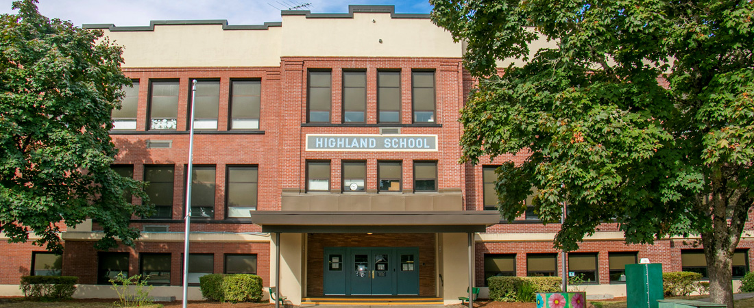 Highland front entrance