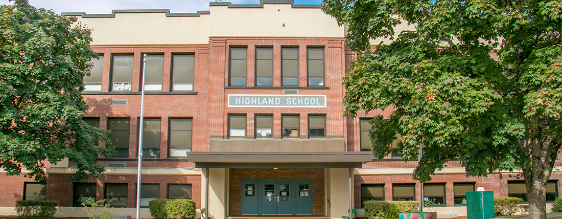 Highland Elementary front exterior