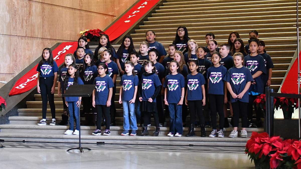 Highland Elementary Choir at the Capitol 2018
